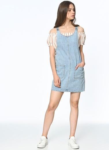 Yaka Detaylı Jean Elbise-Vero Moda